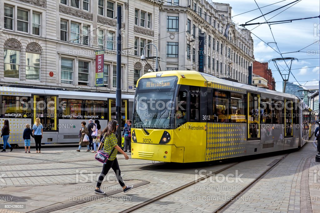 Manchester City Center stock photo
