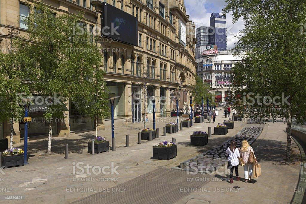 Manchester City Centre royalty-free stock photo