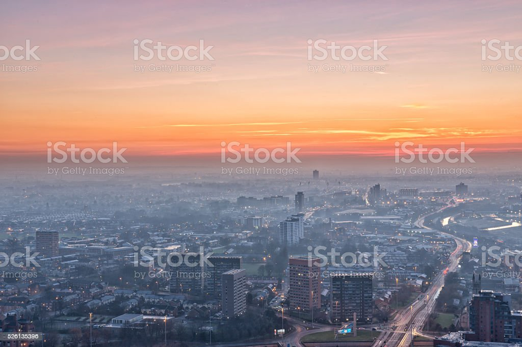 Manchester city centre stock photo