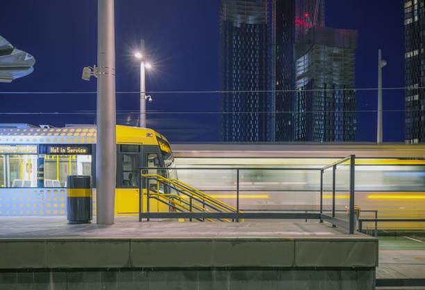 Manchester City Centre Transport. stock photo