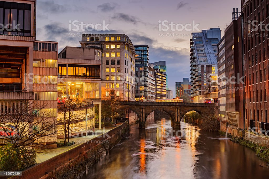 Manchester city centre, UK stock photo