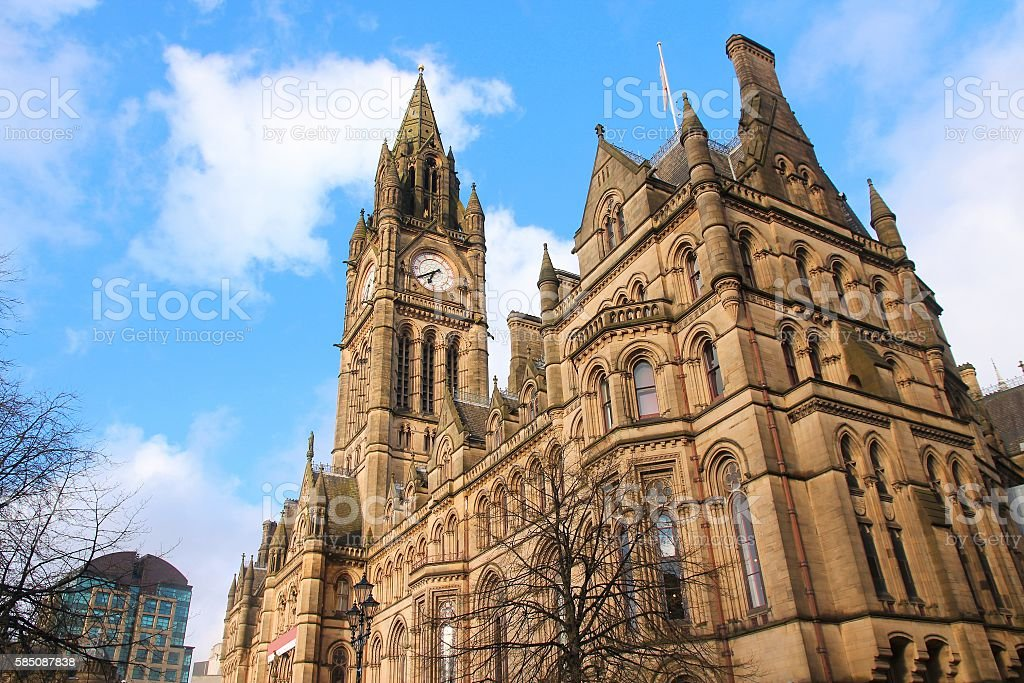 Manchester City Hall stock photo