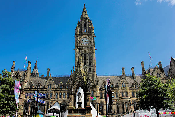 Manchester City Town Hall. Manchester, UK. stock photo