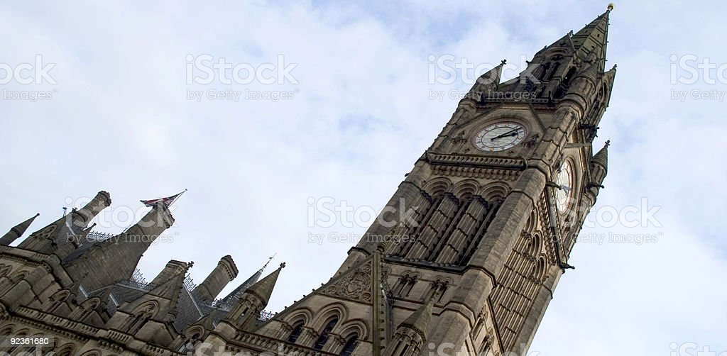 Manchester council hall royalty-free stock photo
