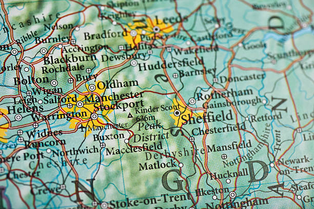 Manchester, England Manchester, England map.Source: