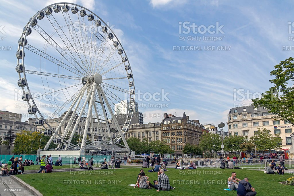 Manchester Ferris Wheel stock photo