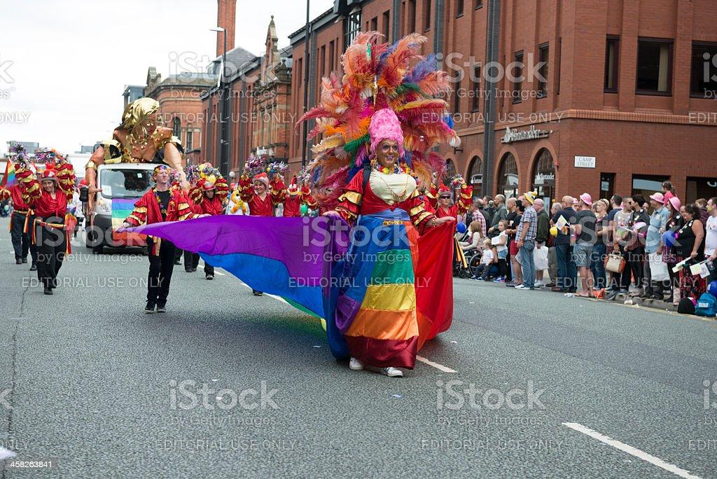 Manchester Gay Pride Parade 2013 royalty-free stock photo