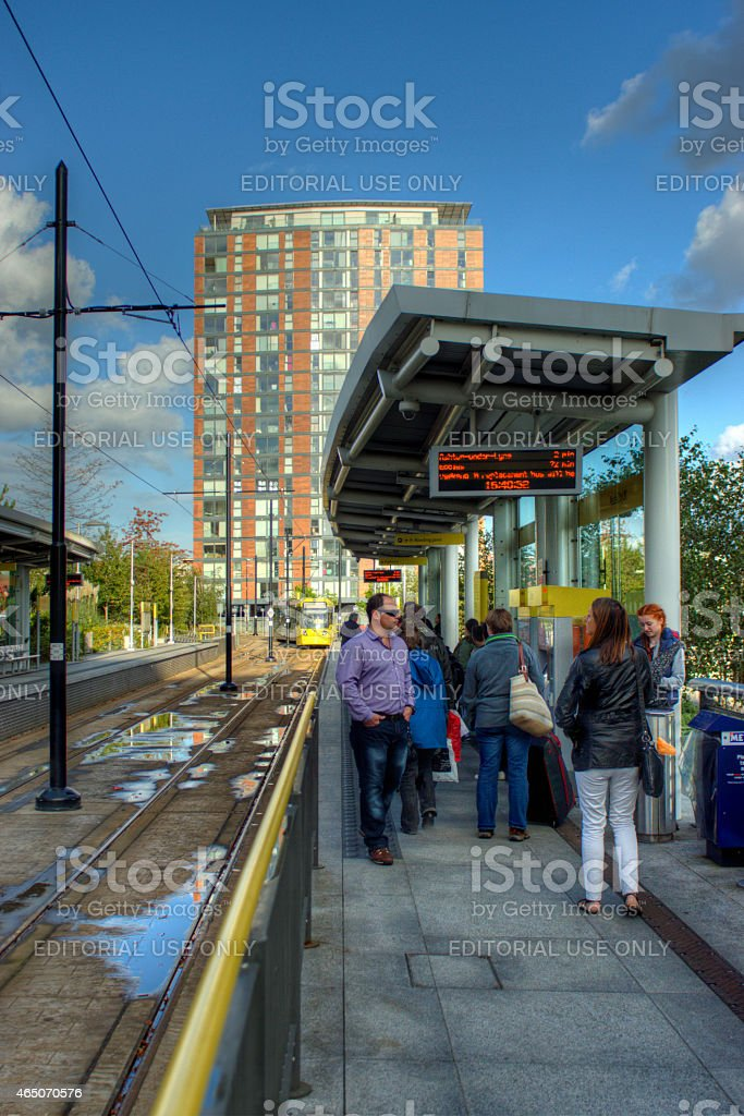 Manchester Metrolink tram stock photo