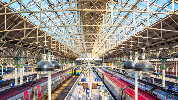 Manchester Piccadilly station in Mancheater, UK stock photo