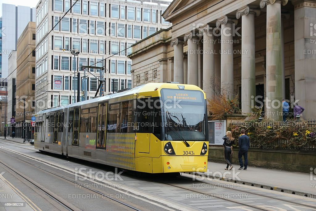 Manchester public transport stock photo