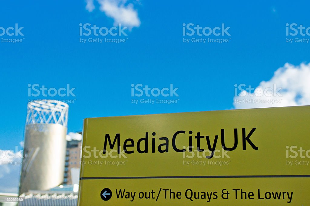 Manchester sign stock photo