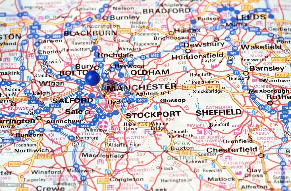 Manchester thumbtack in map travel destination stock photo 118225931 thumbtack in map travel destination royalty free stock photo gumiabroncs Images
