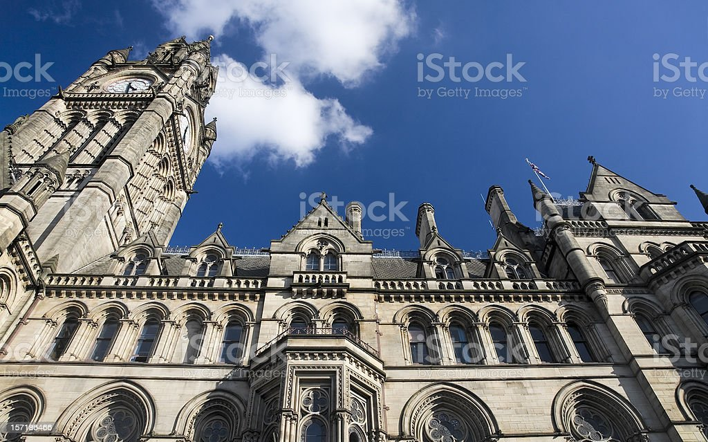 Manchester Town Hall, England, Great Britain-See alternative view below stock photo