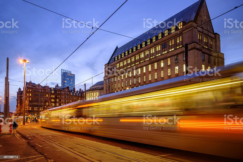 Manchester Town Hall Extension stock photo