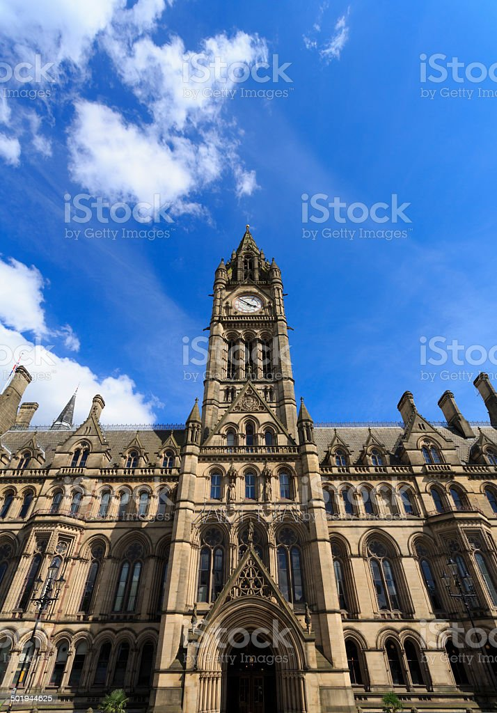 Manchester Town Hall royalty-free stock photo
