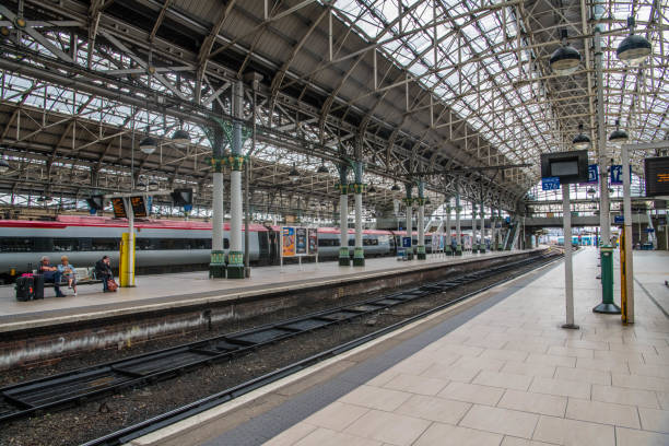Manchester Train Station stock photo