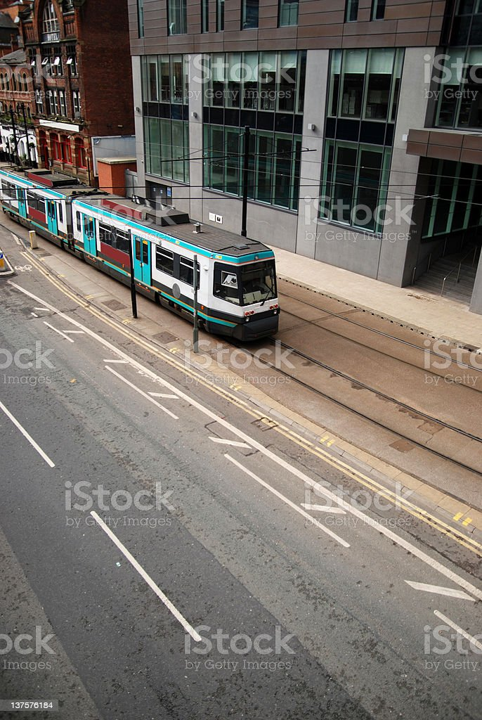 Manchester tram royalty-free stock photo