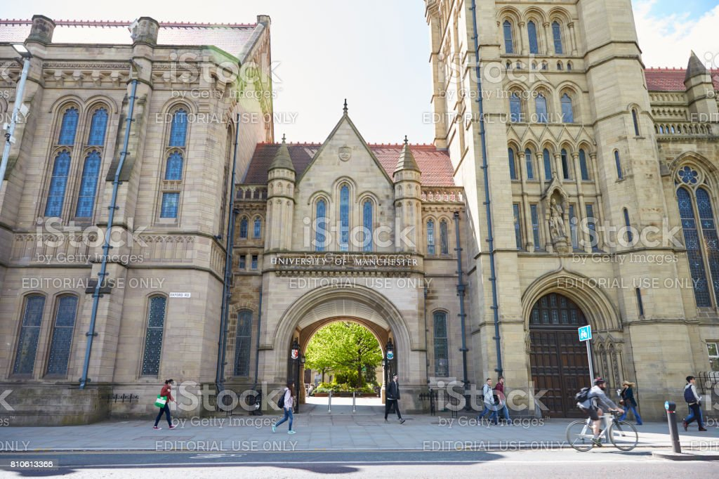 Manchester, UK - 4 May 2017: College Buildings Of The University Of Manchester stock photo