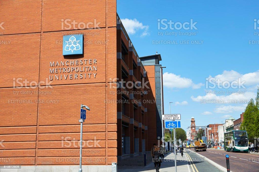 Manchester, UK - 4 May 2017: Manchester Metropolitan University Campus Buildings stock photo