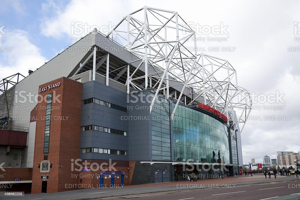 Manchester United football stadium, Old Trafford royalty-free stock photo