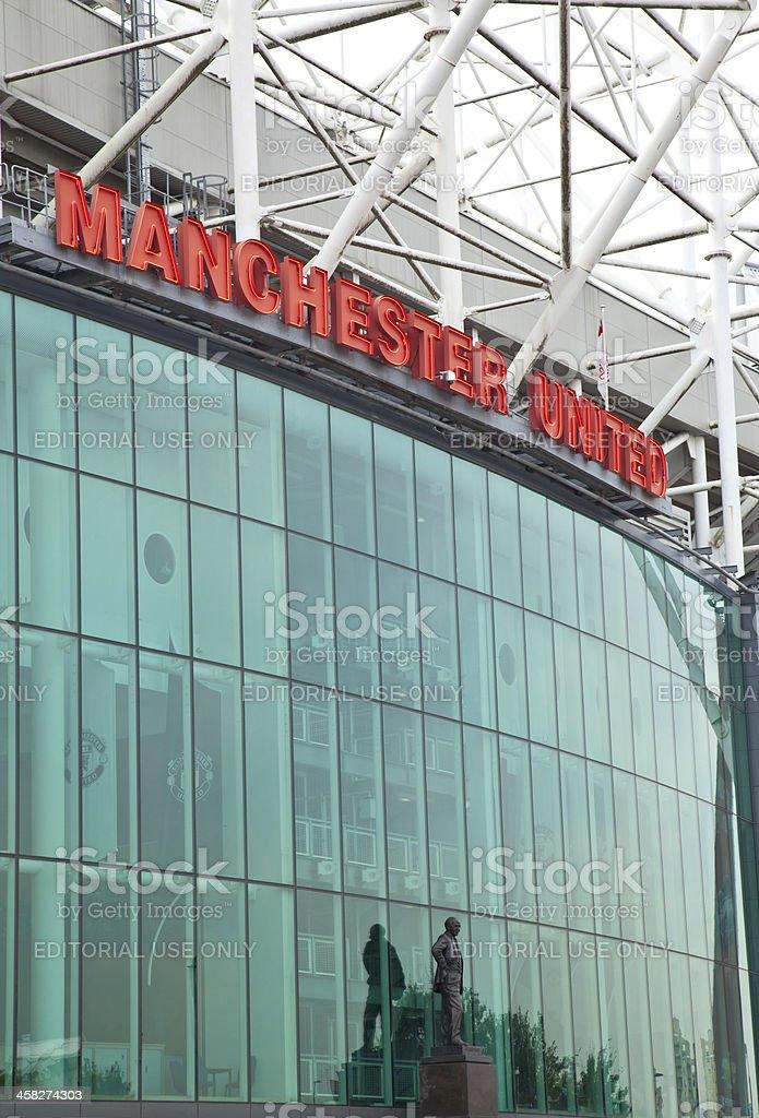 Manchester United Football Stadium royalty-free stock photo