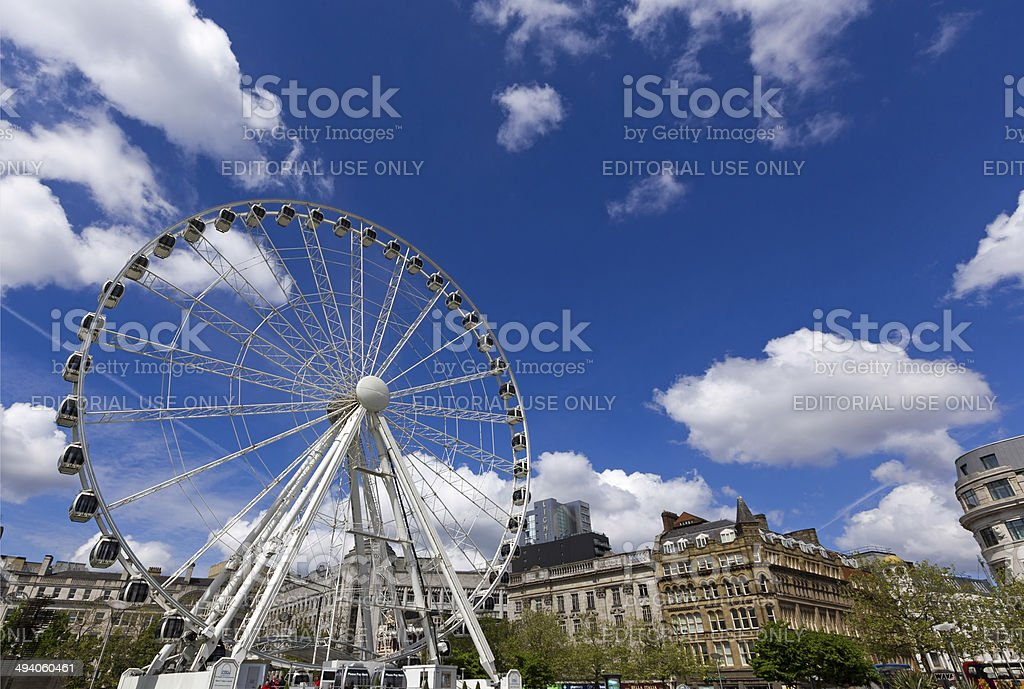 Manchester Wheel stock photo