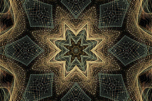 High resolution and heavily detailed mandala style pattern ideal for concepts including meditation, relaxation, eastern religion iconography, psychedelic imaging and more.