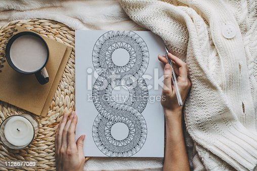 istock Mandalas sketch in scandinavian style 1128677089