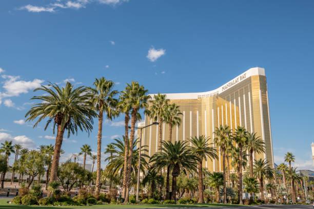 Mandalay Bay Hotel and Casino on the Las Vegas Boulevard strip. stock photo
