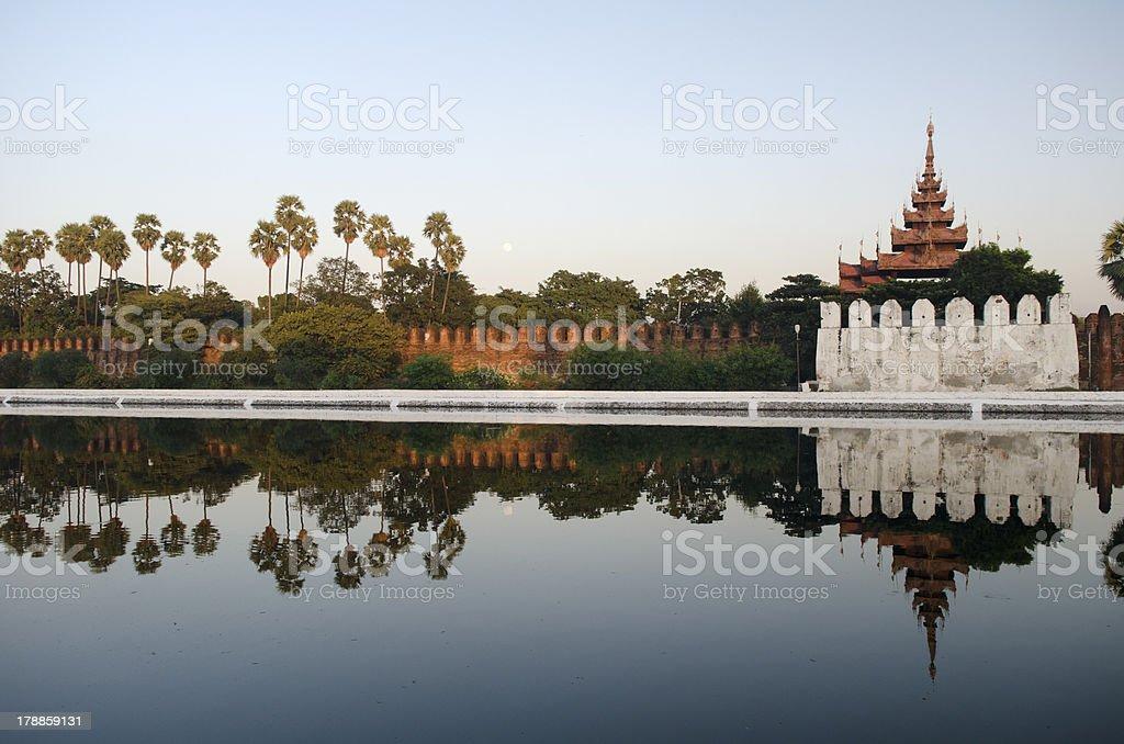 mandalay fort stock photo