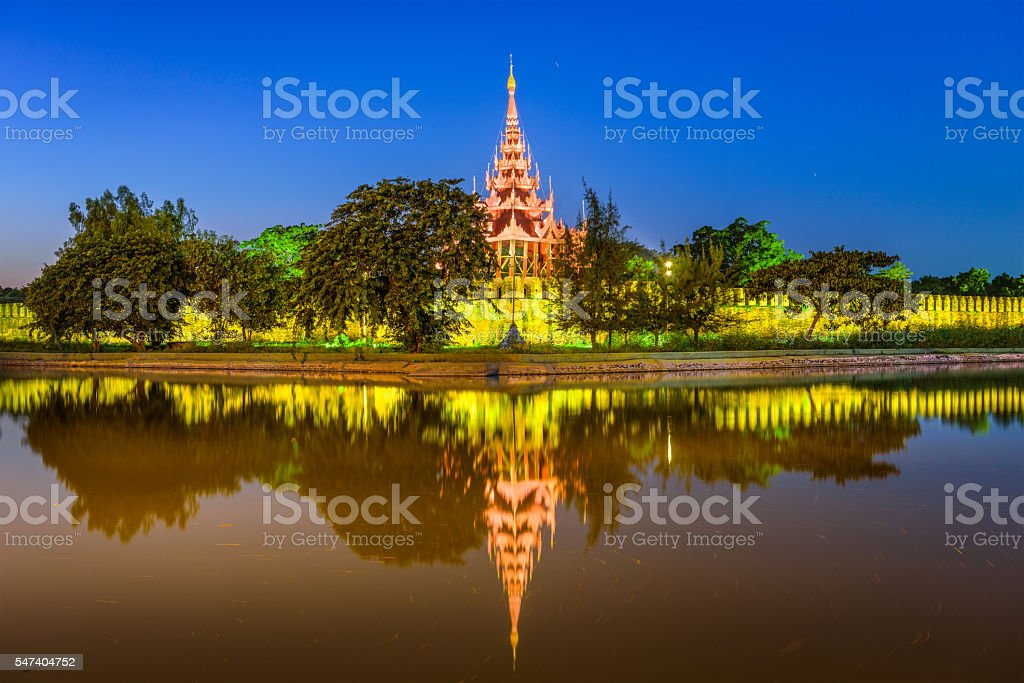 Mandalay Myanmar Palace stock photo