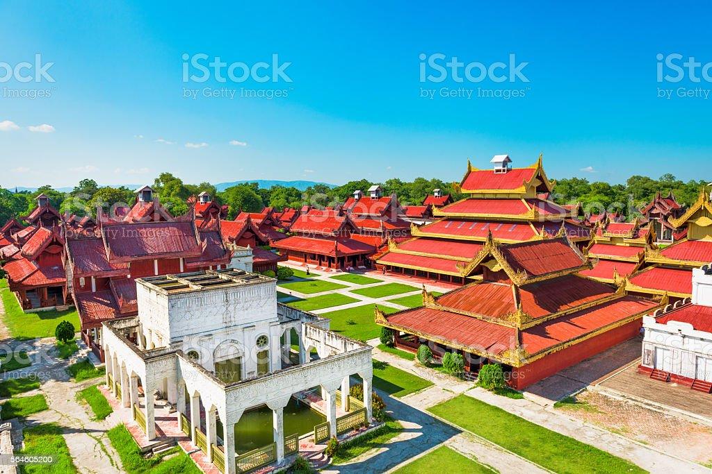 Mandalay, Myanmar Palace stock photo