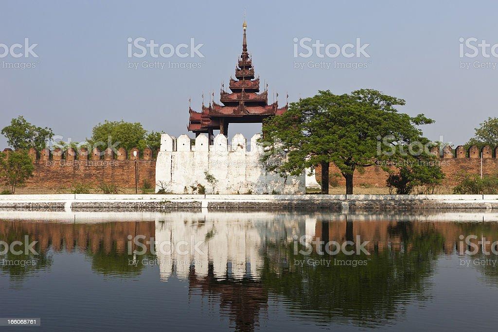 Mandalay Palace In Myanmar stock photo