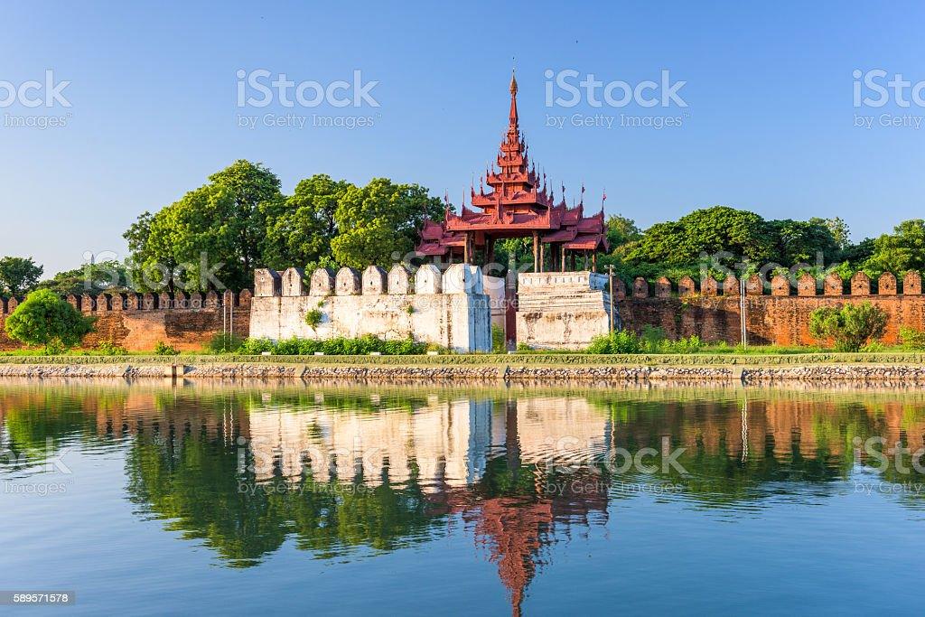 Mandalay Palace Moat stock photo