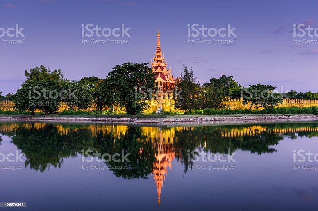 Mandalay Palace Wall stock photo