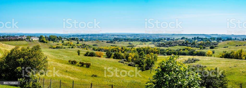 Mandan Panorama - Bismarck, North Dakota stock photo