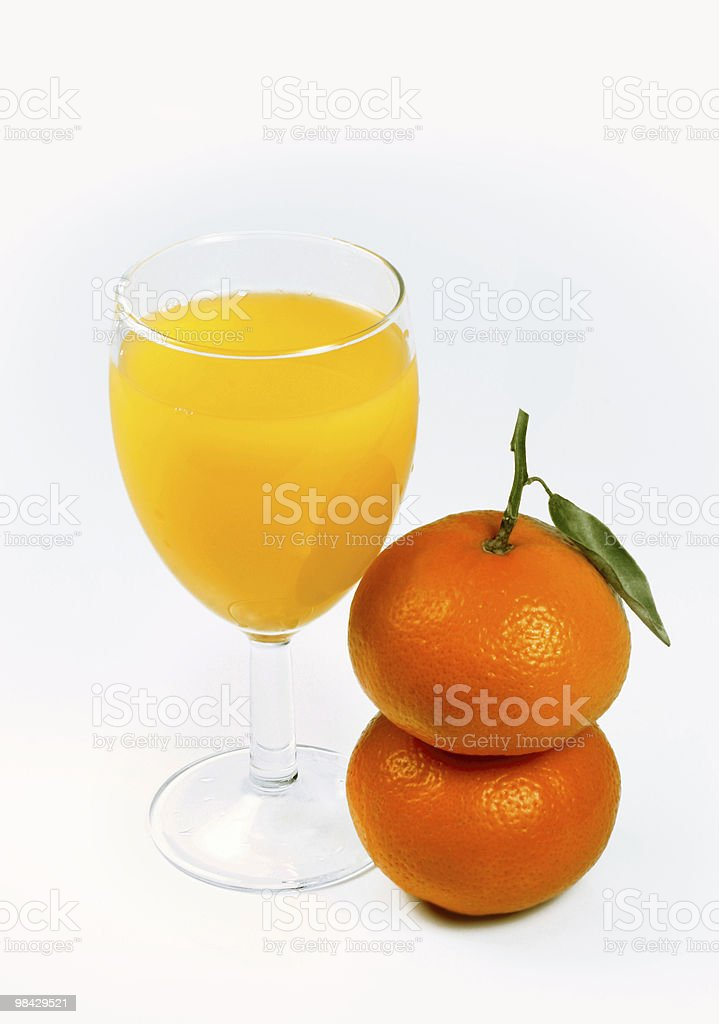 mandarin fruits  and juice royalty-free stock photo