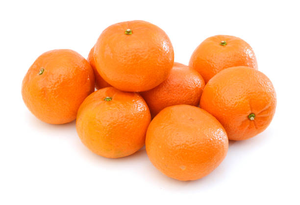 Mandarin isolated on white background, pyramid of mandarins on white background, stack of mandarins Mandarin isolated on white background, pyramid of mandarins on white background, stack of mandarins. Conceptual photo. Exotic tropical fruit tangerine stock pictures, royalty-free photos & images