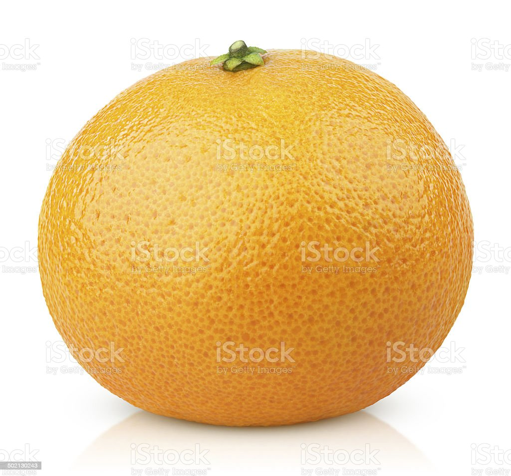 Mandarin Orange fruit (Tangerine) isolated on white stock photo