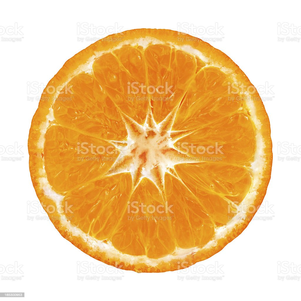 Mandarin orange portion on white stock photo