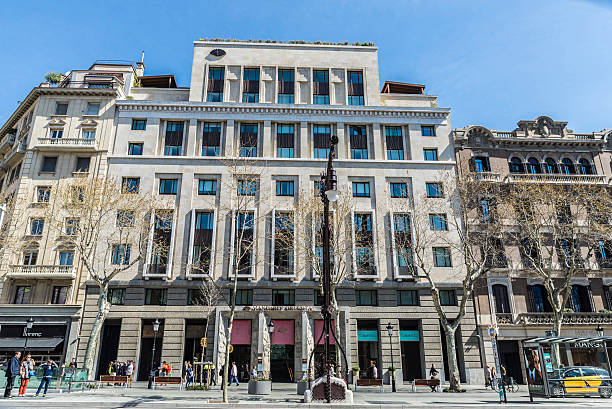 Mandarin Oriental Hotel, Barcelona Barcelona, Spain - March 27, 2015: Mandarin Oriental Hotel located on Passeig de Gracia, one of the most expensive streets in Europe. It is one of the most exclusive hotels in the city gracia baur stock pictures, royalty-free photos & images