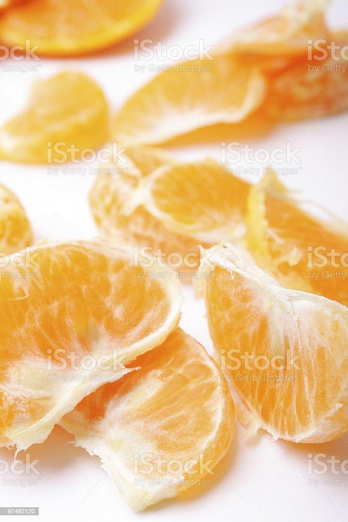 mandarin wedges royalty-free stock photo