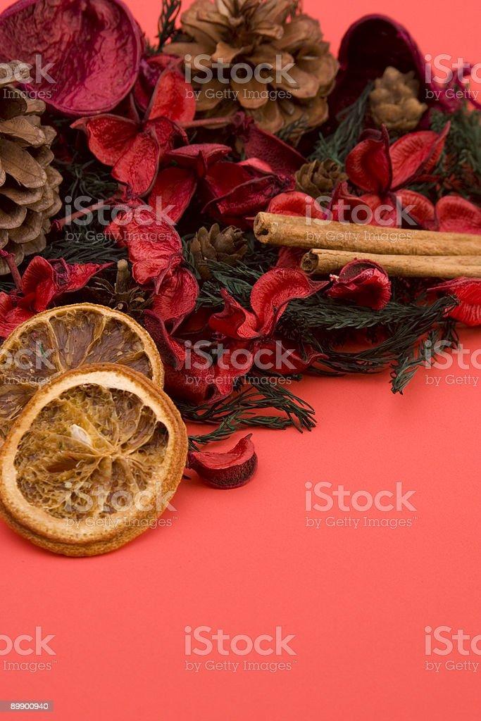 Mandarin,Cloves & Cinnamon royalty-free stock photo