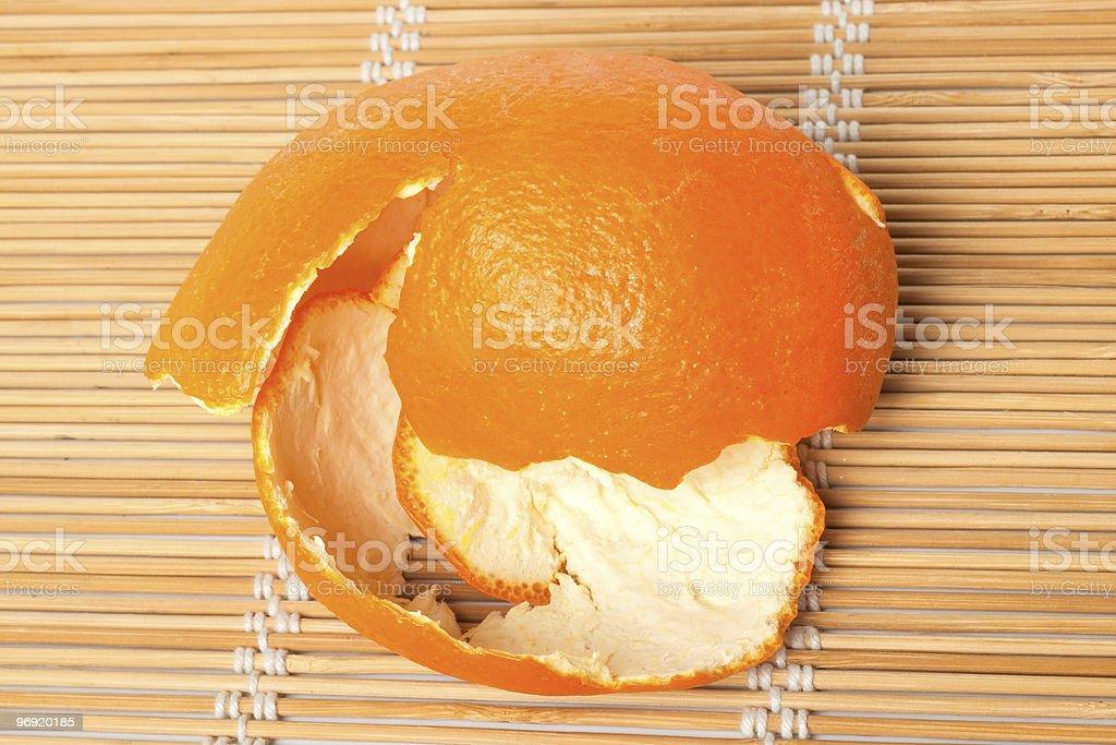 Mandarine rind royalty-free stock photo