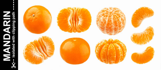 Mandarine, tangerine, clementine isolated on white background. Collection Mandarine, tangerine, clementine isolated on white background with clipping path. Collection tangerine stock pictures, royalty-free photos & images