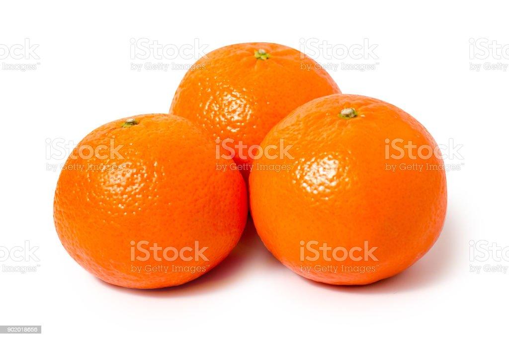 Mandarins oranges isolated stock photo