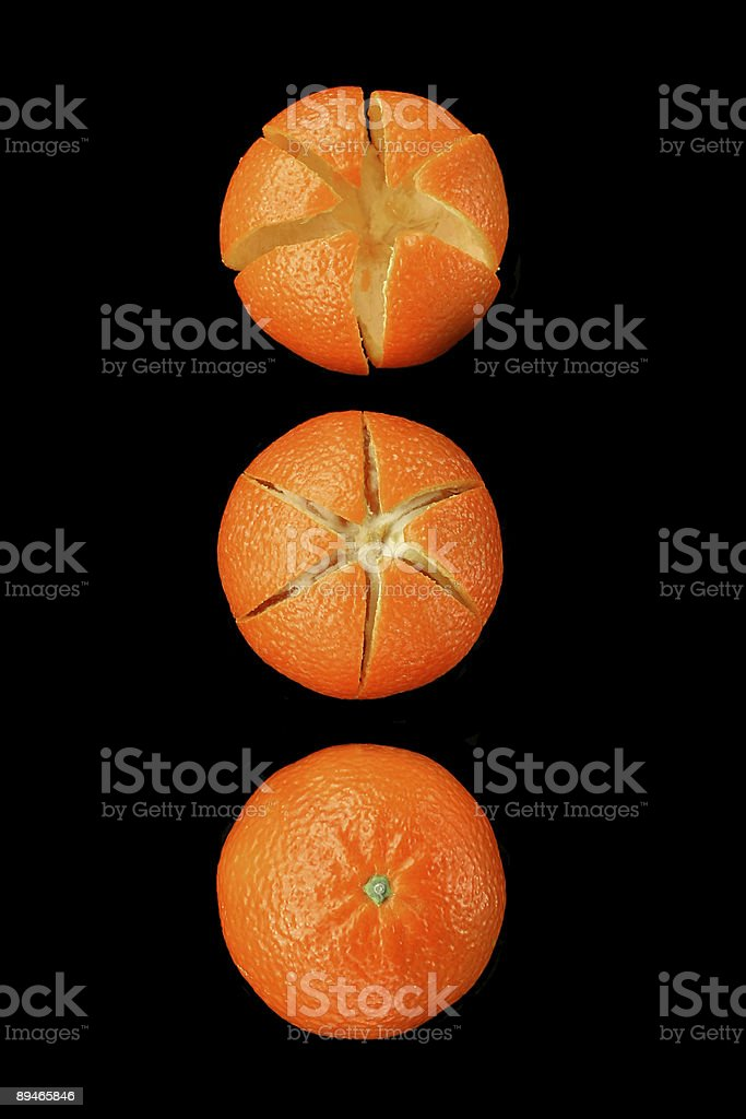 Mandarins (series) royalty-free stock photo