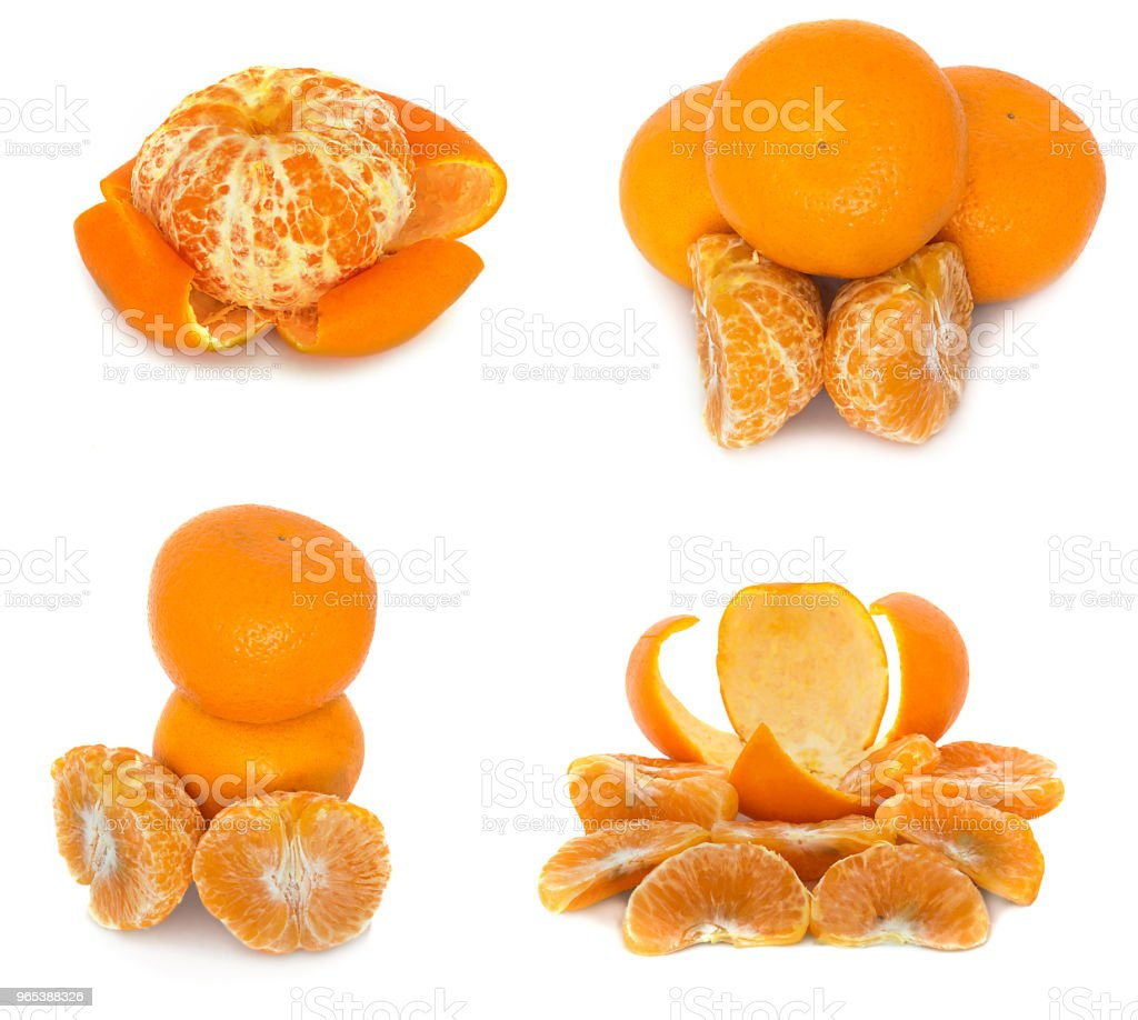 mandarins several different options on a white background. Citrus without background. zbiór zdjęć royalty-free