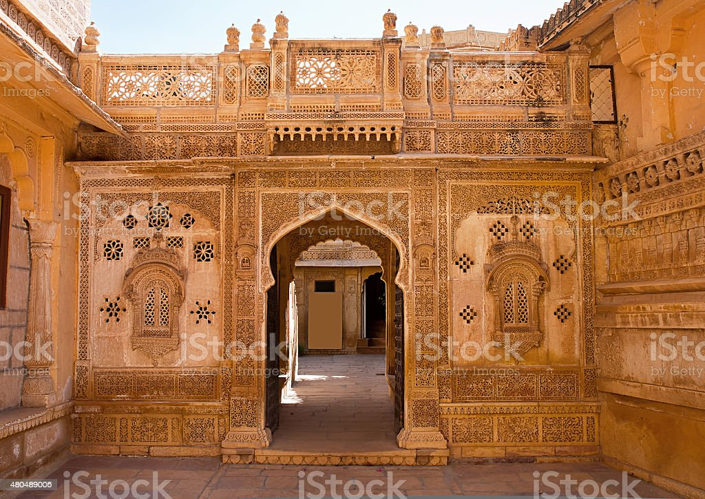Mandir Palace in Jaisalmer, Rajasthan, India stock photo