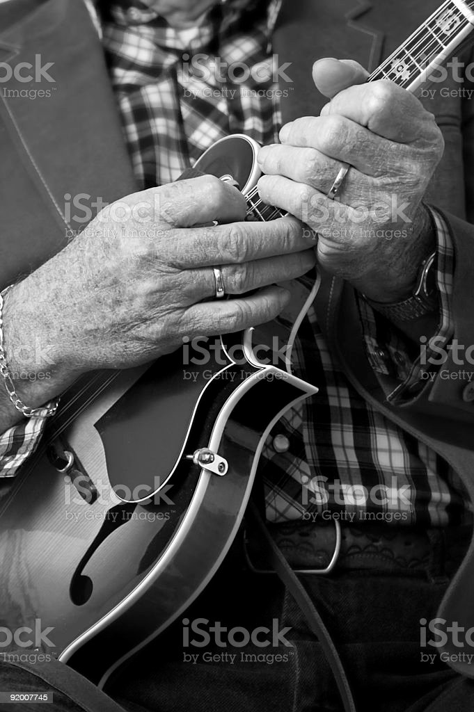 Mandolin Hands stock photo